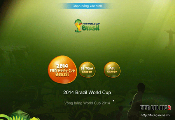 Việt Nam tham gia World Cup 2014 trong FIFA Online 3 3