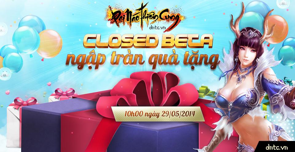 Đại Náo Thiên Cung tặng giftcode Closed Beta 1
