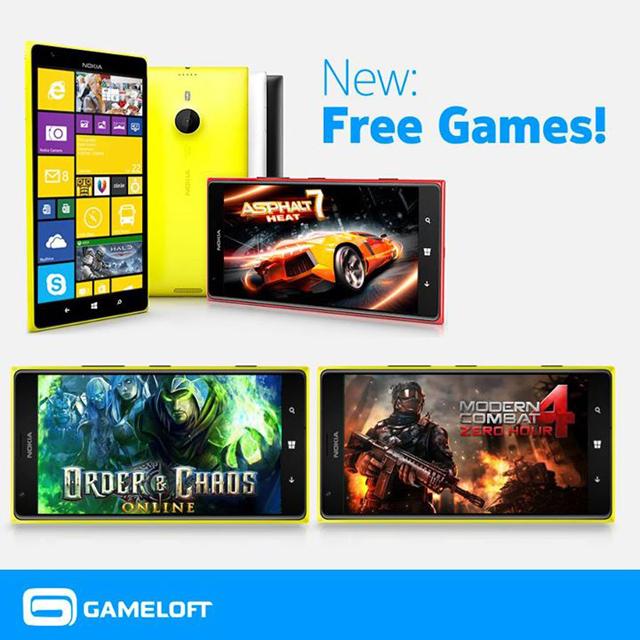 Gameloft miễn phí game cho Nokia Lumia 1