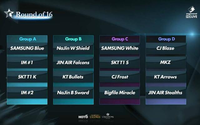 Kết quả chia bảng HOT6iX Champions Summer 2014 2