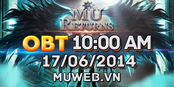 MU Returns tặng giftcode đón phiên bản Open Beta 1