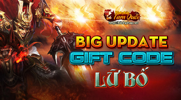 Tặng giftcode Lữ Bố game Binh Pháp Tam Quốc 1