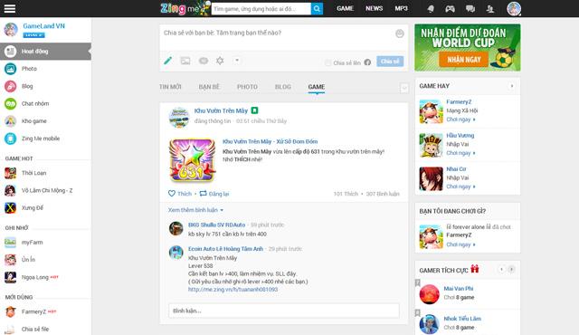 Zing Me chuyển hướng thành MXH hỗ trợ ngành game 1