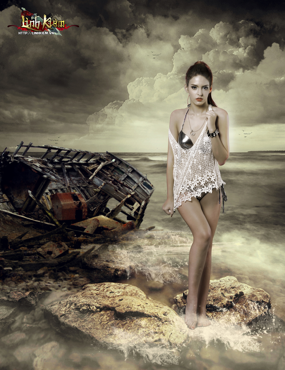 Andrea Aybar cực sexy trong ảnh quảng bá Linh Kiếm 1