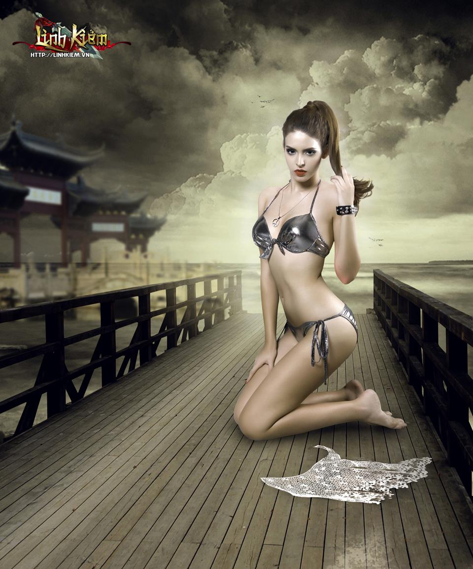 Andrea Aybar cực sexy trong ảnh quảng bá Linh Kiếm 2