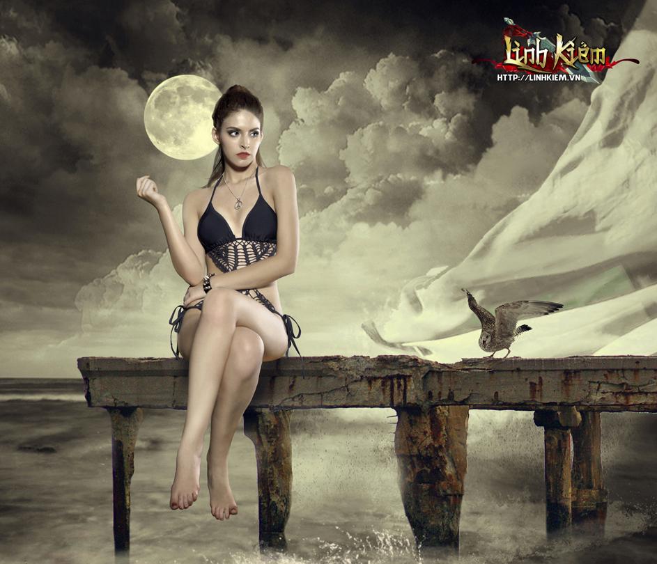 Andrea Aybar cực sexy trong ảnh quảng bá Linh Kiếm 3