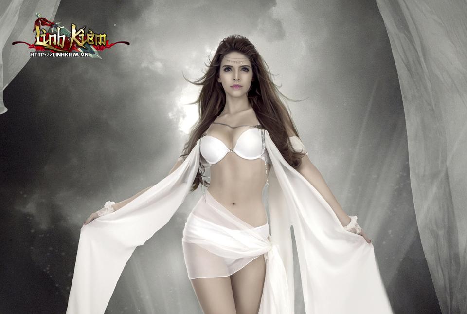 Andrea Aybar cực sexy trong ảnh quảng bá Linh Kiếm 5
