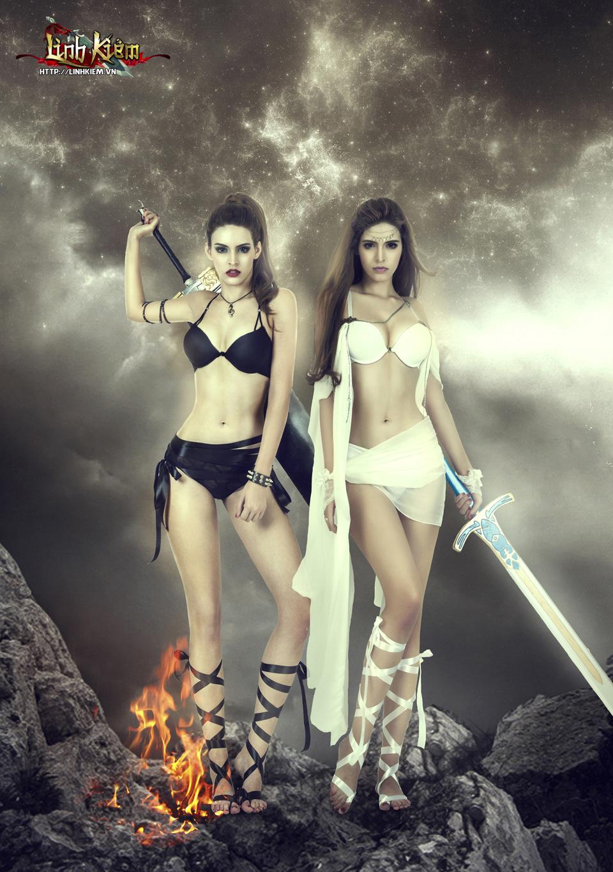 Andrea Aybar cực sexy trong ảnh quảng bá Linh Kiếm 7