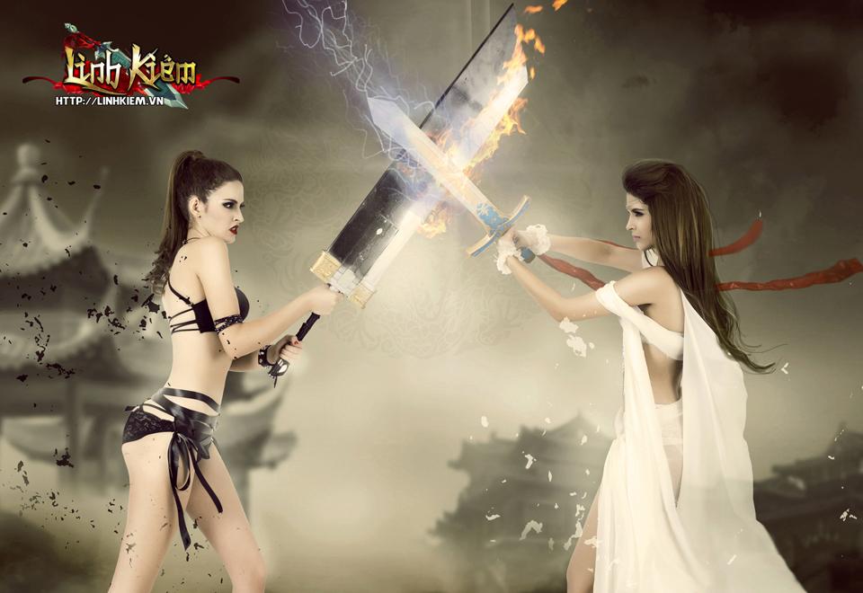 Andrea Aybar cực sexy trong ảnh quảng bá Linh Kiếm 12