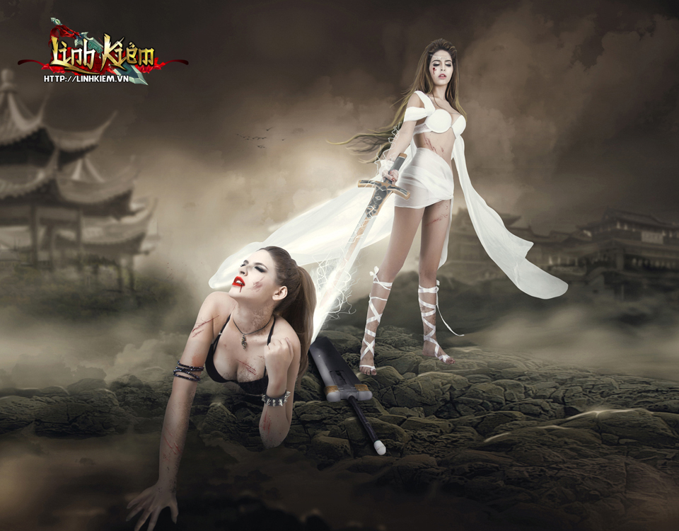 Andrea Aybar cực sexy trong ảnh quảng bá Linh Kiếm 13