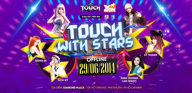 """CMN Online công bố tổ chức offline """"Touch with stars"""" 2"""