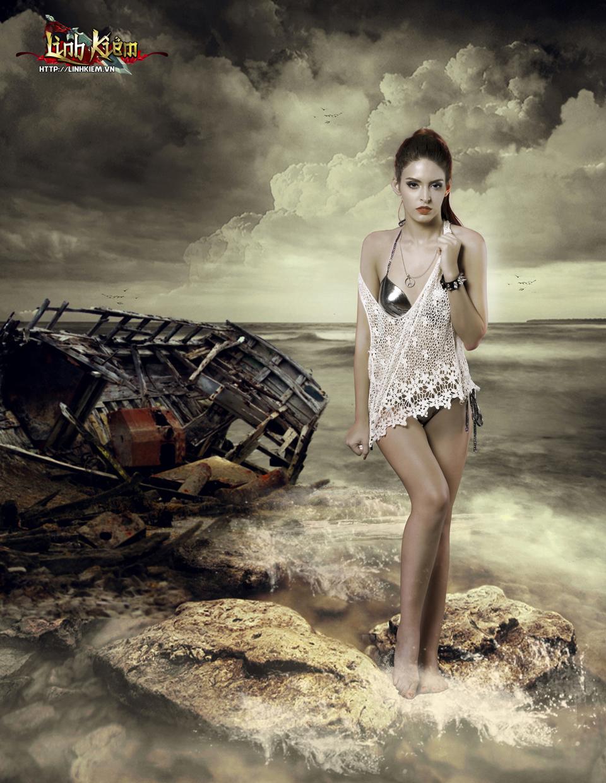 Andrea Aybar sexy trong ảnh quảng bá Linh Kiếm - Ảnh 2