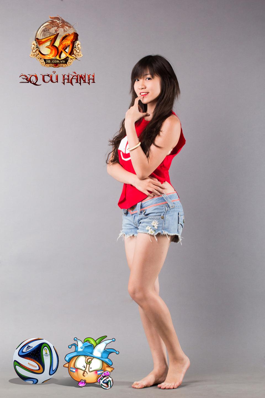 Hot girl 3Q Củ Hành quyến rũ cùng trái bóng tròn - Ảnh 1