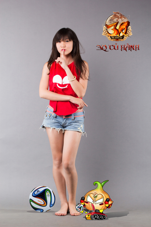 Hot girl 3Q Củ Hành quyến rũ cùng trái bóng tròn - Ảnh 3