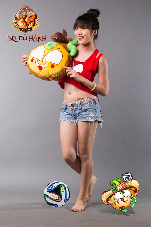 Hot girl 3Q Củ Hành quyến rũ cùng trái bóng tròn - Ảnh 6