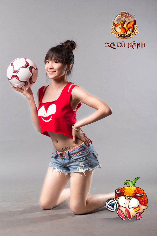 Hot girl 3Q Củ Hành quyến rũ cùng trái bóng tròn - Ảnh 7