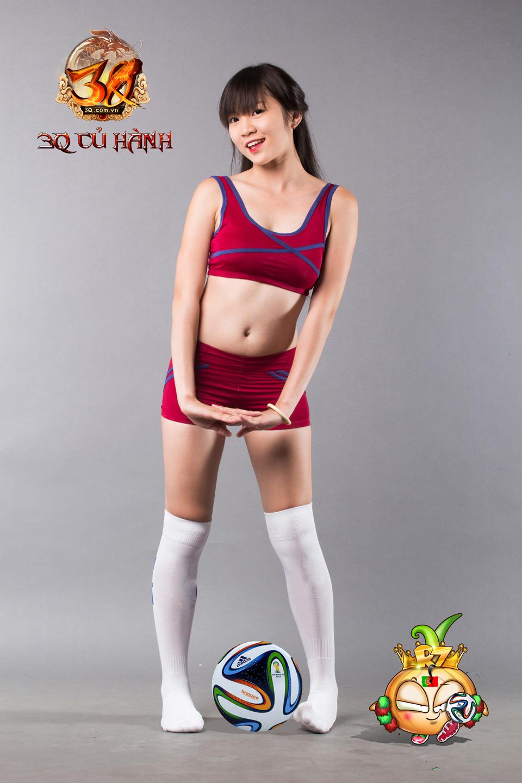 Hot girl 3Q Củ Hành quyến rũ cùng trái bóng tròn - Ảnh 8