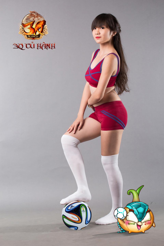 Hot girl 3Q Củ Hành quyến rũ cùng trái bóng tròn - Ảnh 9