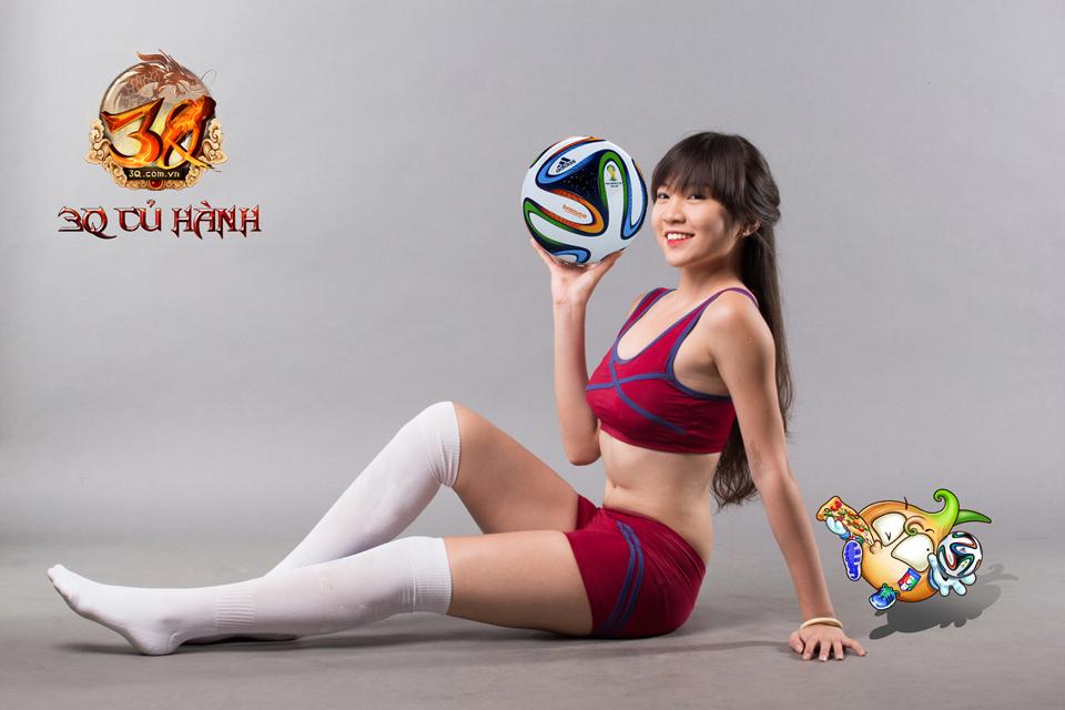 Hot girl 3Q Củ Hành quyến rũ cùng trái bóng tròn - Ảnh 10