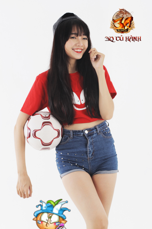 Hot girl 3Q Củ Hành quyến rũ cùng trái bóng tròn - Ảnh 12