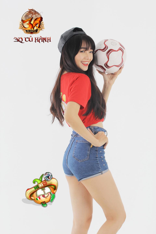 Hot girl 3Q Củ Hành quyến rũ cùng trái bóng tròn - Ảnh 14