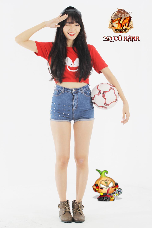 Hot girl 3Q Củ Hành quyến rũ cùng trái bóng tròn - Ảnh 15