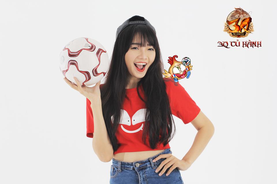 Hot girl 3Q Củ Hành quyến rũ cùng trái bóng tròn - Ảnh 16
