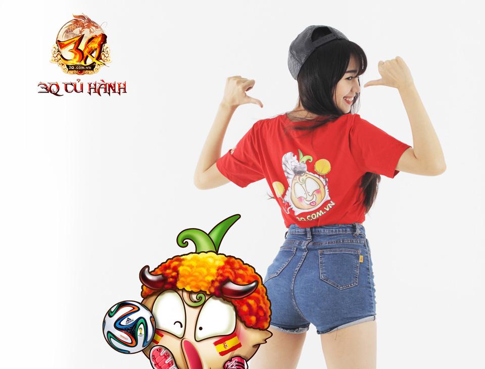 Hot girl 3Q Củ Hành quyến rũ cùng trái bóng tròn - Ảnh 18