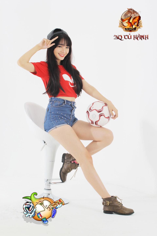 Hot girl 3Q Củ Hành quyến rũ cùng trái bóng tròn - Ảnh 19
