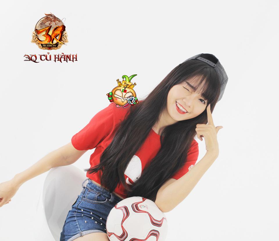 Hot girl 3Q Củ Hành quyến rũ cùng trái bóng tròn - Ảnh 20