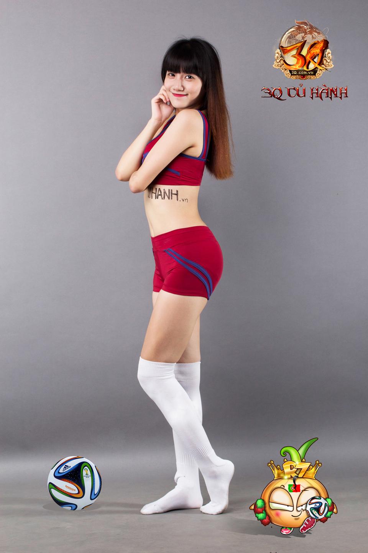 Hot girl 3Q Củ Hành quyến rũ cùng trái bóng tròn - Ảnh 22