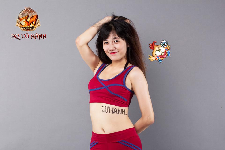 Hot girl 3Q Củ Hành quyến rũ cùng trái bóng tròn - Ảnh 23