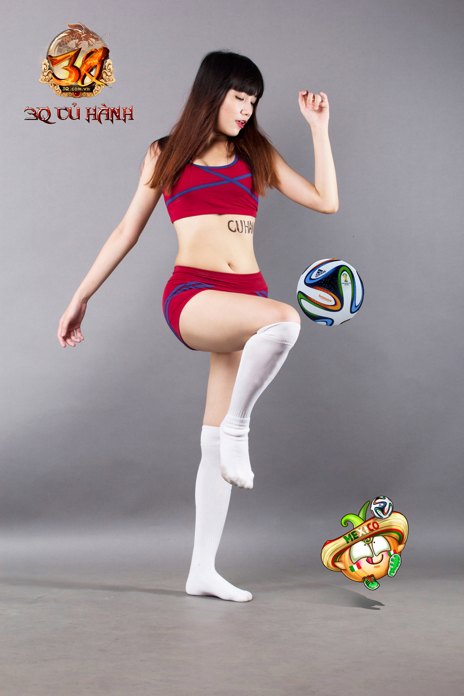 Hot girl 3Q Củ Hành quyến rũ cùng trái bóng tròn - Ảnh 24