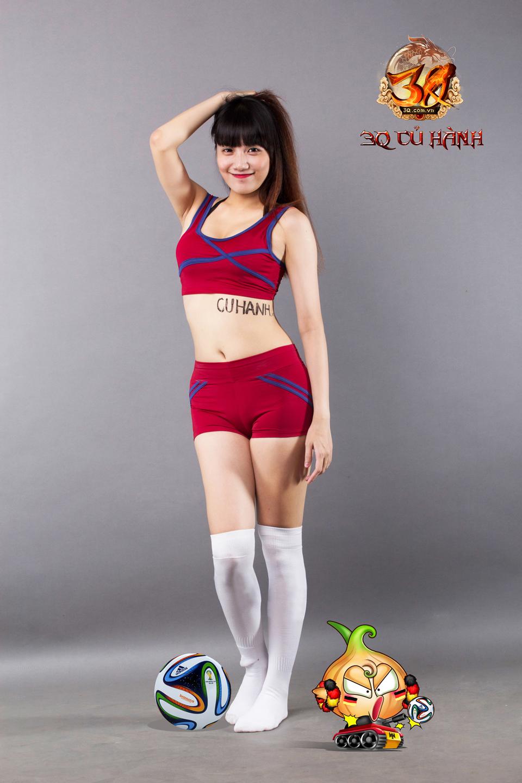 Hot girl 3Q Củ Hành quyến rũ cùng trái bóng tròn - Ảnh 27