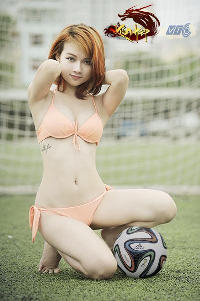 Miss Kiếm Hiệp Vương Vân cởi đồ nghịch bóng - Ảnh 6