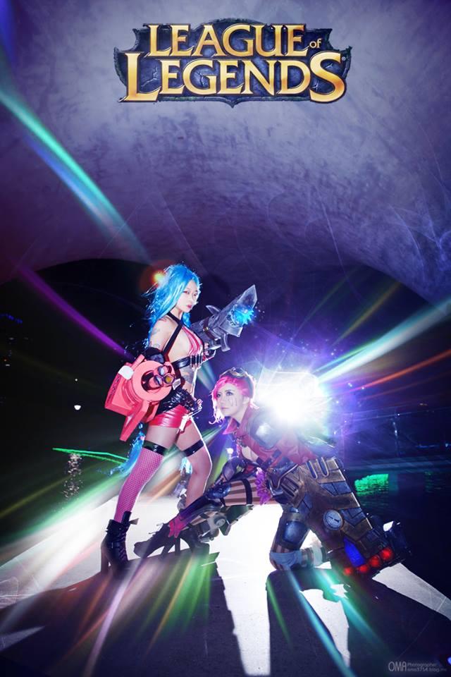 Ngắm cosplay Vi và Jinx cực quyến rũ - Ảnh 7