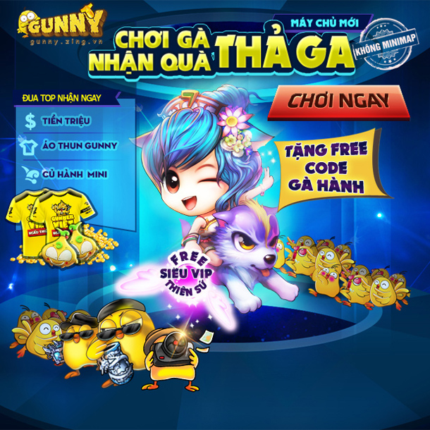 Gunny Online ra mắt máy chủ mới Gà Thả Ga 1
