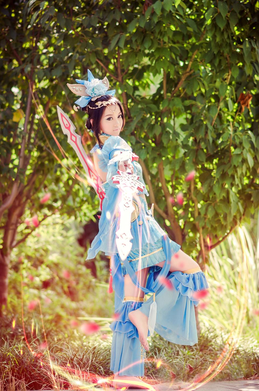 Nữ hiệp Thất Tú quyến rũ với bộ váy xanh - Ảnh 5