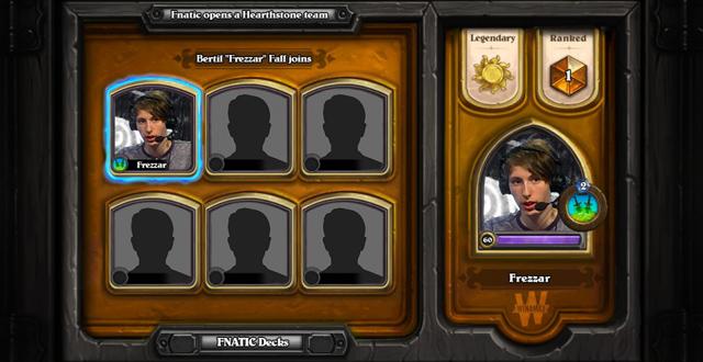 Fnatic thành lập đội tuyển Hearthstone 2