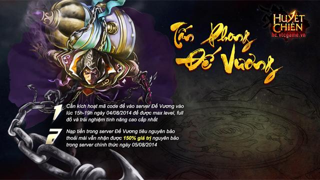 Tặng giftcode Đế Vương game Huyết Chiến 2