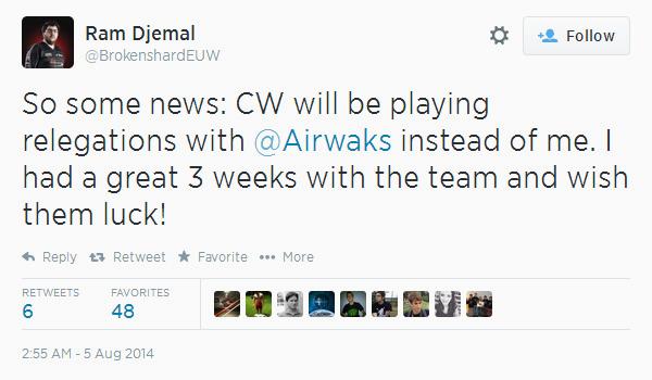 LMHT: Airwaks trở lại đội hình chính của CW 2
