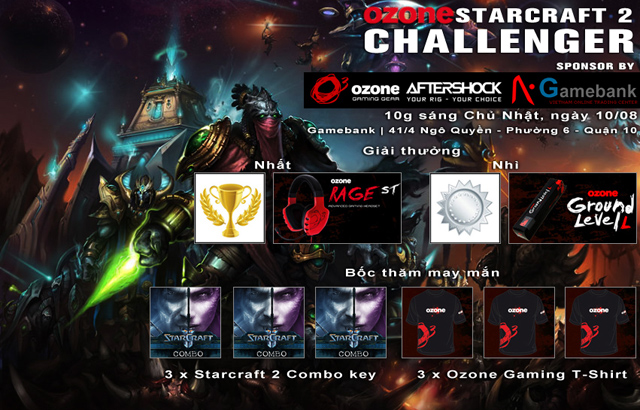 Ozone tổ chức giải đấu StarCraft II tại TP.HCM 2