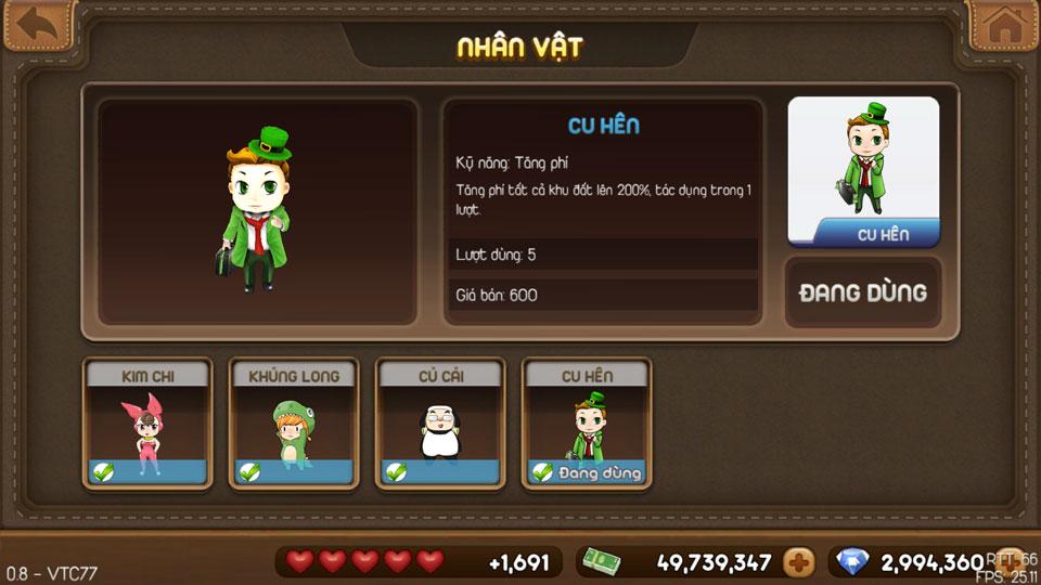 VTC Mobile trình làng game mới Cờ Tỷ Phú 7