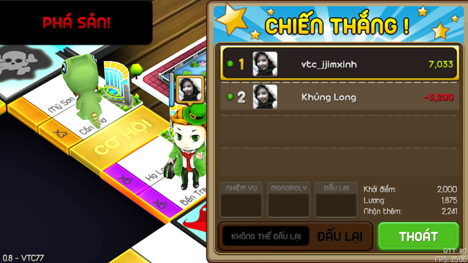 VTC Mobile trình làng game mới Cờ Tỷ Phú 17