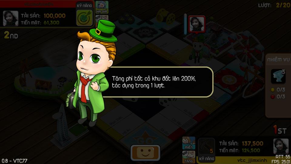 VTC Mobile trình làng game mới Cờ Tỷ Phú 21