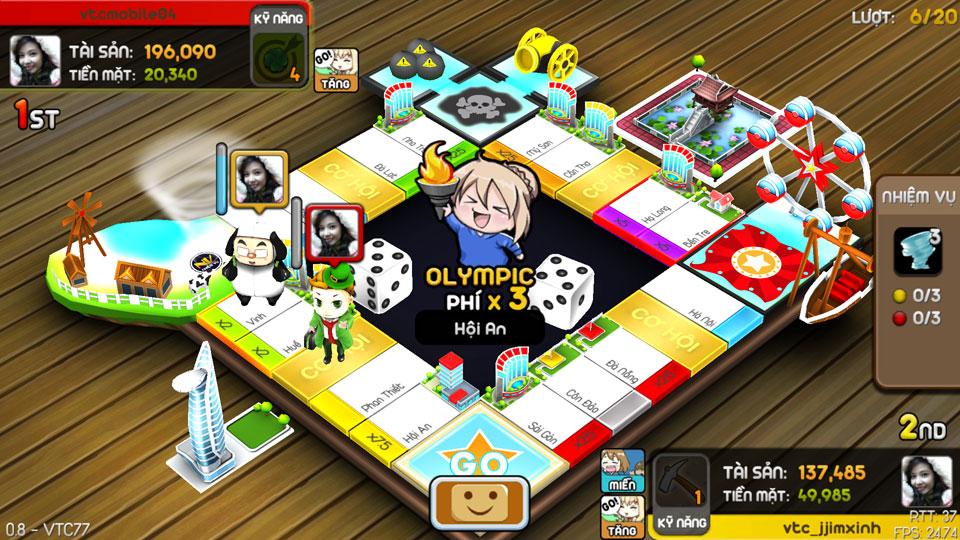 VTC Mobile trình làng game mới Cờ Tỷ Phú 25