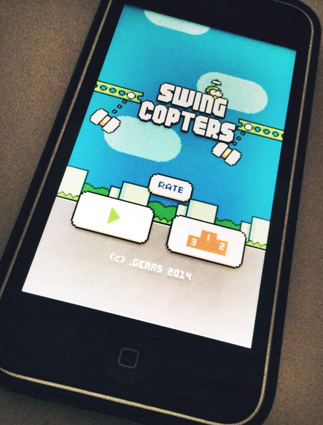 Nguyễn Hà Đông ra mắt game mới Swing Copters 1